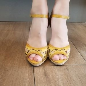 Charles David Yellow Espadrilles